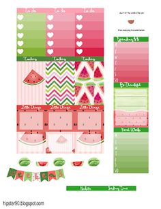 Planner & Journaling Printables ❤ ~ Hipster's World ~ Watermelon