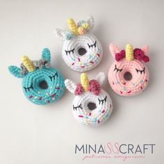 Items similar to Unicorn Donut Amigurumi PDF Pattern on Etsy Kawaii Crochet, Crochet Art, Cute Crochet, Crochet Toys, Crochet Unicorn Hat, Unicorn Doll, Unicorn Pattern, Amigurumi Patterns, Doll Patterns