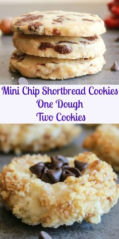 Thick Nutella Chip Shortbread Cookies, an easy, delicious, shortbread recipe. Filled with Homemade Nutella or chocolate chips, you choose! Chocolate Chip Shortbread Cookies, Toffee Cookies, Shortbread Recipes, Cookie Recipes, Bar Recipes, Cookie Ideas, Dessert Recipes, Quick Cookies, Yummy Cookies