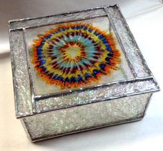 Contemporary Fused Stained Glass Jewelry Box  by #PeaceLuvGlass on #Etsy via #pinandshareyouretsy