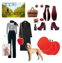 """""""🍎 picking"""" by chantelle3798 ❤ liked on Polyvore featuring Gucci, Norma Kamali, Yves Saint Laurent, Lime Crime, Chanel, PALLAS, Static Nails, Betsey Johnson, Clive Christian and applepicking"""