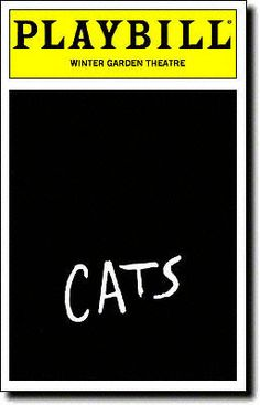 Cats Playbill - Black & White, Mar 1983