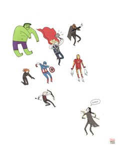 The Avengers- by Ginger Haze on Tumblr :)