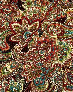 We love this colourful and lively paisley print. Screams for those festival regulars in need of a Festi-Pouch Textiles, Textile Patterns, Print Patterns, Paisley Design, Paisley Print, Psychedelic Art, Pattern Art, Pattern Design, Mehndi