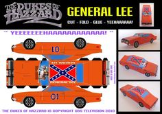 paper cars | this paper car is a general lee 1969 dodge charger driven by the duke ...