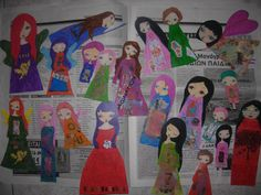 Items similar to New Mixed Media Paper Dolls - Pack of 50 ready to use them in your crafts/art journaling/decoration- Original Artwork on Etsy Fairy Princesses, Inspirational Message, In The Flesh, Mixed Media Art, Paper Dolls, Girl Birthday, The Dreamers, Whimsical, Arts And Crafts