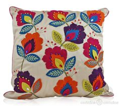 Bold cream and felt cushion