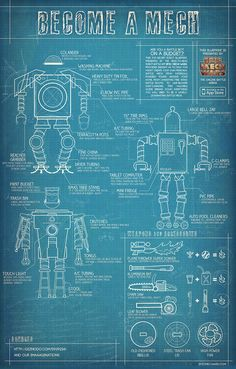 Lego man art print lego minifigure typical blueprint technical this top secret robot blueprint presented by the head to head robot battle app epic mech wars provides insight as malvernweather Gallery