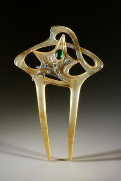 Art Nouveau comb, L. Gaillard style (2)