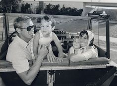 Steve McQueen with wife Nellie and Chad and Terry