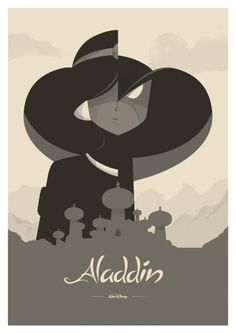 Minimalist Movie Posters. Aladdin's by far my favorite.