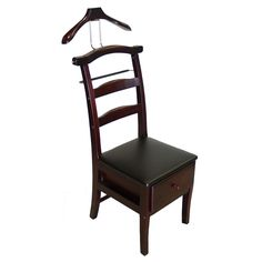 Proman Manchester Mahogany Finish Chair Valet (Manchester Mahogany Finish Chair), Brown