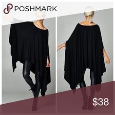 🌟RESTOKED🌟 Black Tunic Poncho Other