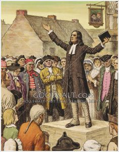 John Wesley Preaching in the Streets. He brought the Gospel to the working classes, the poor and wretched.
