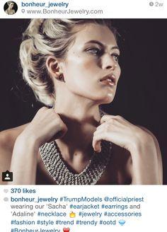 'Adaline' #Necklace and 'Sacha' #Earcuffs #BonheurJewelry #Jewelry