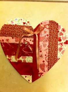 Heart Quilt Love Patchwork would be a cute mug rug