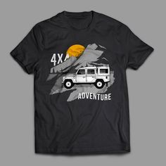 """Adventure"""" Designed by A Raw Studio Graphic Shirts, Printed Shirts, Tee Shirts, Shirt Print Design, Shirt Designs, Shirt Template, Custom Logos, Typography, Lettering"""