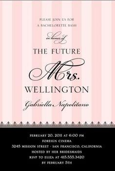 """Love this idea for bachelorette invites! """"The future Mrs..."""""""