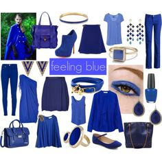 """Feeling blue"" by petitelefant on Polyvore"