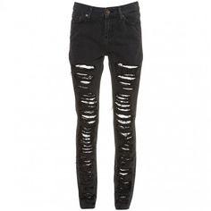 DIY Ripped Skinny Jeans La Belle et la It Girl ❤ liked on Polyvore