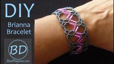 Beading Patterns Free, Beading Tutorials, Bugle Beads, Seed Beads, Braided Bracelets, Bead Weaving, Diy Jewelry, Elegant, Youtube