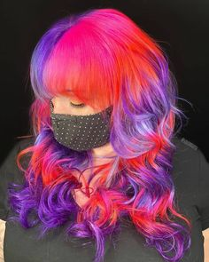 Pixie Hairstyles, Pretty Hairstyles, Hair Inspo, Hair Inspiration, Long Hair Cuts, Long Hair Styles, Music Festival Hair, Split Dyed Hair, Hair Creations