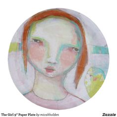 "The Girl 9"" Paper Plate 9 Inch Paper Plate"