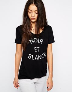 6389269f8e b.Young Noir Et Blance T-Shirt at asos.com