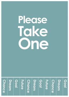 Please take one chance!