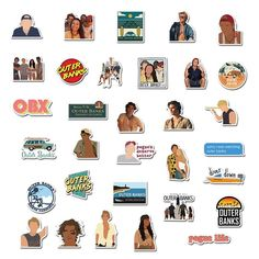 Pop Stickers, Tumblr Stickers, Image Cinema, Outer Banks North Carolina, The Pogues, Paradise On Earth, Christmas Drawing, Aesthetic Stickers, Wall Collage