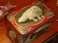 VERY RARE 1910 English Vintage Biscuit Tin/Box W/Hinged Lid - With ...