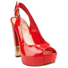 Jessica Simpson Cecity Peep Toe Slingback Platform Heel #VonMaur