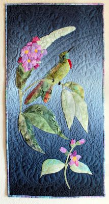 Quilted Art : Twilight Hummingbird Panel