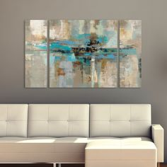 Silvia Vassileva Morning Fjord 3-Piece Canvas Wall Art Set | Overstock.com Shopping - The Best Deals on Gallery Wrapped Canvas