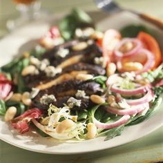 Blackened Portobello-Mushroom Salad plus other great vegetarian dishes! This one sounds perfect for a summer night!