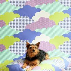 Design Repeats, Kids Wallpaper, Clouds, Pattern, Patterns, Model, Swatch, Cloud