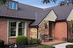 We have metal roof styles that look like wood shakes, slate, clay tile, and dimensional shingles, as well as traditional standing seam. Architecture Durable, Architecture Résidentielle, Japanese Architecture, Sustainable Architecture, Contemporary Architecture, Home Design, Residential Metal Roofing, Craftsman Style Homes, Construction
