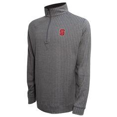NC State Wolfpack Charcoal and Grey Herringbone 1/4 Zip Jacket