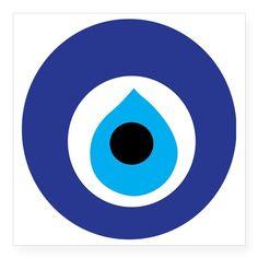 "Turkish Eye (Evil Eye) Square Sticker 3"" x 3"" on CafePress.com"