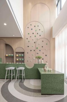 Cafe Design, Store Design, House Design, Commercial Design, Commercial Interiors, Kindergarten Design, Estilo Tropical, Restaurant Interior Design, Architectural Elements