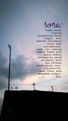 #sore #sore #dahsore #indonesia #quotes Crush Quotes, Mood Quotes, Life Quotes, J Words, Quotes About Moving On In Life, Quotes Galau, Unique Words, Quotes Indonesia, Feeling Sad