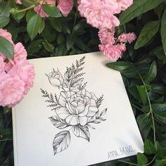 "4,679 curtidas, 15 comentários - Tattoo Artist (@anna_bravo_) no Instagram: ""#floraltattoo #floral #blacktattooing #tats #tattoo #tattoos #tattooed #tattooartist #botanical…"""