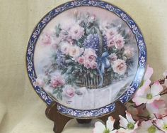 "Check out Vintage W S George Fine China 1992 Collector Plate, Lena Liu's Basket Bouquets, ""Roses"", Bradex Limited Edition, #VB7137 on ckdesignsforyou"