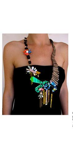 NIKKI COUPPEE-USA -USA--cascades necklace- plexiglass,brass,found objects-2012