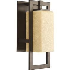 Outdoor Décor-Progress Lighting P594820 Jack One Light Outdoor Sconce Antique Bronze Finish with Etched Umber Flax Glass * Want to know more, click on the image.