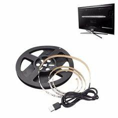 SOLMORE 100CM Ruban LED USB Prise 60-3528SMD Bande Strip Guirlande Lumineux Décoration Ordinateur/PC Tab /Télé /Voiture/Vélo/Maison DC 5V…
