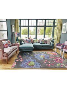 John Lewis Bluebell Kippen Rug £265 Big Floral Design 140 x 200cm RRP £375 | eBay