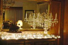 Pastel sobre luces