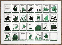 https://flic.kr/p/h68qdn   A Noisy Alphabet   'A Noisy Alphabet', a new screenprint by Tom Gauld  You can buy it here:  www.tomgauld.com/index.php?/shop/noisy-alphabet-print-b/