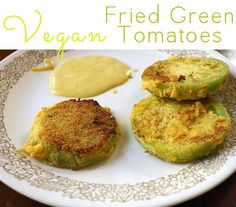 These vegan fried green tomatoes are just as crispy and decadent as their conventional counterparts. Promise!